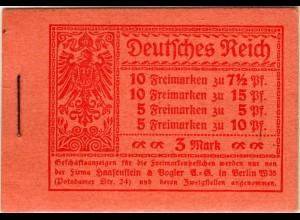 """Dt. Reich, MH 9.1 B mit DKZ """"W"""", s. Beschreibung (90006)"""