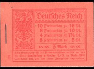 Dt. Reich, MH 10.1 B mit 86 IIc, Fotoattest, s. Beschreibung (90010)