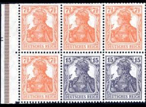 Dt. Reich, HBl. 16 + 17 B je mit DKZ, s. Beschreibung (90015)